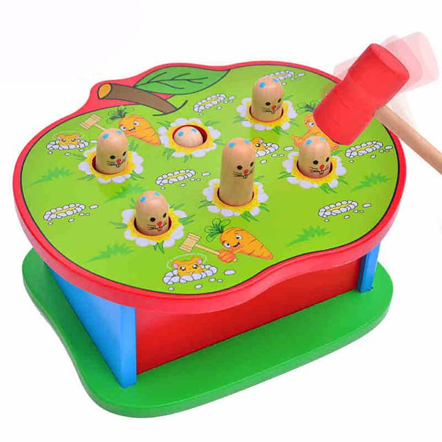 1 pcs Jeu de Gopher Whac-a-mole Bois Amusement Interaction parent-enfant Enfant Jouets Cadeaux