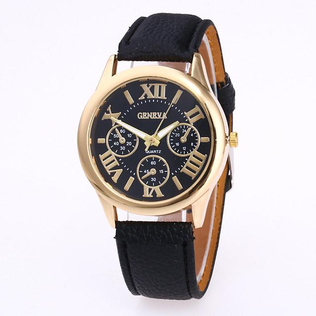 Geneva نسائي ساعة المعصم كوارتز سيدات ساعة كاجوال مماثل أبيض أسود أرجواني / جلد