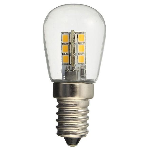 hkv® led led e14 1w 2835smd 24 de sticlă umbra 360 grade iluminare unghi cald alb rece pentru frigider mașină de cusut