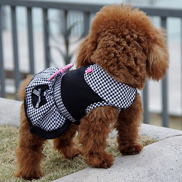 Hund Kjoler Valpeklær Prinsesse Klassisk Bursdag Ferie Bursdag Vinter Hundeklær Valpeklær Hundeklær Svart Kostume for Girl and Boy Dog Bomull S M L