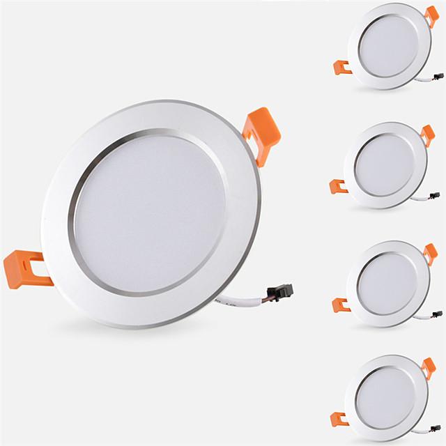 5pcs 5 W 500 lm 10 Perles LED Installation Facile Encastré Lampes Encastrées LED Encastrées Blanc Chaud Blanc Froid 85-265 V Maison / Bureau Chambre des Enfants Cuisine / 5 pièces / RoHs / CE