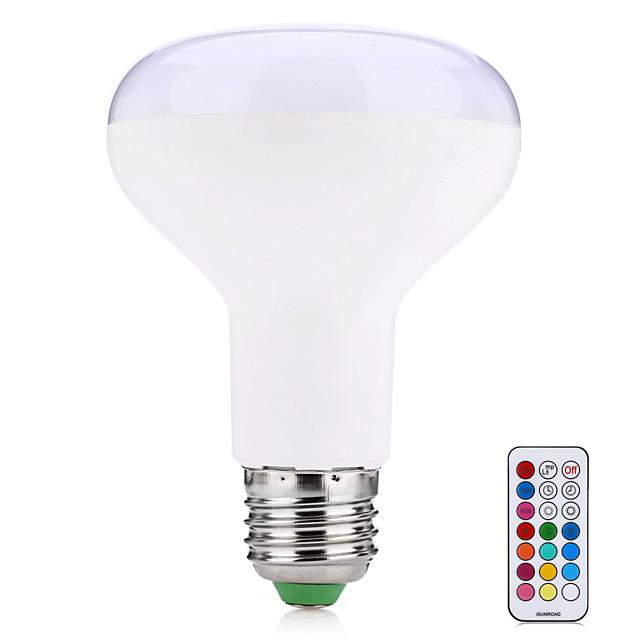 1pc 10 W LED Akıllı Ampuller 700 lm E26 / E27 1 LED Boncuklar Entegre LED Uzaktan Kumandalı Dekorotif Renkli Gradyan RGBWW 85-265 V / 1 parça / RoHs