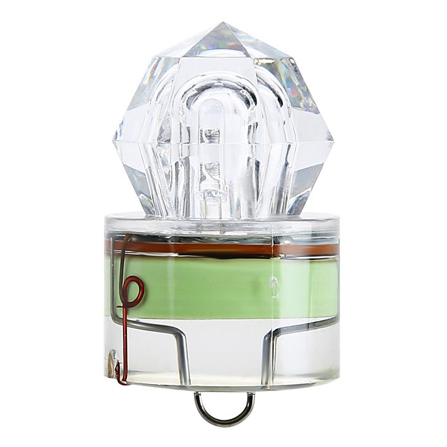 1pc Balık Işıkları LED Yeşil ABS Sualtı LED Göstergesi Balıkçılık 200-500 m