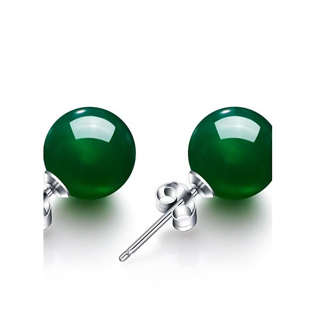 Pentru femei Sintetic Emerald Cercei Stud femei Vintage Modă Smarald cercei Bijuterii Verde Pentru Nuntă Petrecere Aniversare Zi de Naștere