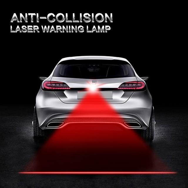 auto voiture anti collision laser lumière automobile lazer feu arrière brouillard queue lampe avertisseur d'alarme s'allume moto camion