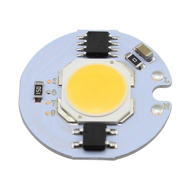 1 pc 5 w cob led chip 220 v smart ic dla diy downlight światło punktowe sufit światło ciepłe / zimny biały