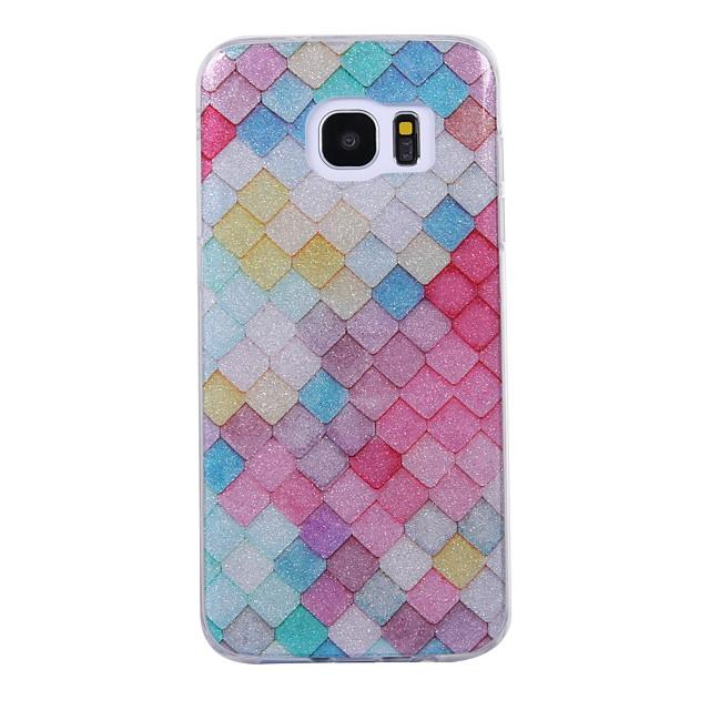Pouzdro Uyumluluk Samsung Galaxy S8 Plus / S8 / S7 edge IMD / Temalı Arka Kapak Geometrik Desenli / Işıltılı Parlak Yumuşak TPU