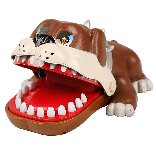 Gadget de blague pratique Accessoire de Maison de Poupées Dentiste Bulldog Plastique Chiens Crocodile Requin Mordre la main / Enfant