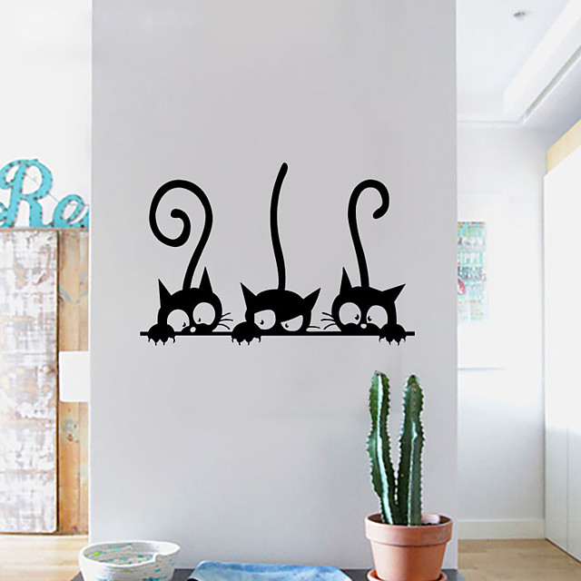 Hayvanlar / Serbest / Tatil Duvar Etiketler Hayvan Duvar Çıkartmaları Dekoratif Duvar Çıkartmaları, Kağıt Ev dekorasyonu Duvar Çıkartması Duvar / Pencere Dekorasyon 1pc