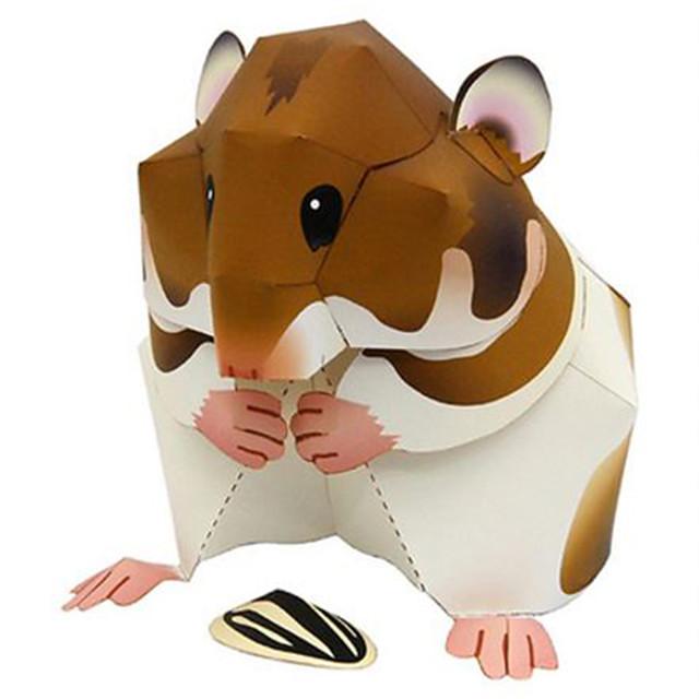 Zabawki 3D Papierowy model Model Bina Kitleri Chomik Zwierzęta Zrób to Sam Twardy papier kartkowy Klasyczny Dla dzieci Unisex Dla chłopców Zabawki Prezent