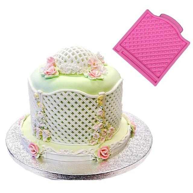 Bakeware araçları Silikon Kauçuk / Silikon Yapışmaz / Pişirme Aracı / Doğum Dünü Kurabiye / Çikolota / Pişirme Kaplar İçin Pasta Kalıpları