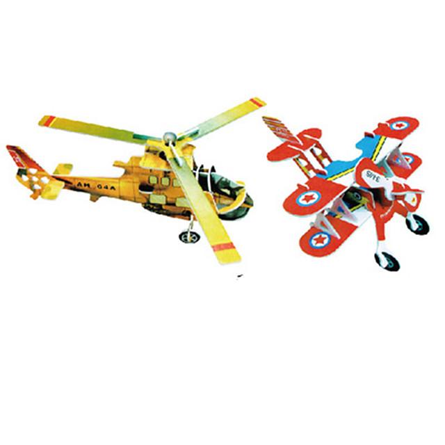 Zabawki 3D Puzzle Model Bina Kitleri Samolot Znane budynki Zrób to Sam Twardy papier kartkowy Klasyczny Kreskówki Dla dzieci Unisex Zabawki Prezent