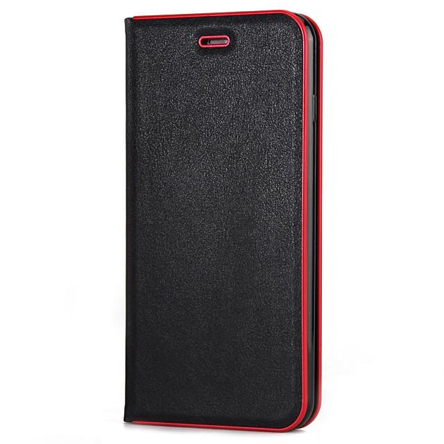 Pouzdro Uyumluluk Apple iPhone X / iPhone 8 Plus / iPhone 8 Kart Tutucu / Satandlı / Flip Tam Kaplama Kılıf Solid Yumuşak PC