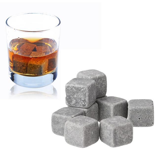 9pcs set de pietre de whisky gheață de cuburi de șampanie vin roșu bar