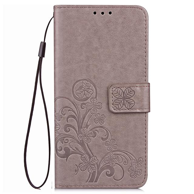 Кейс для Назначение Huawei Honor 7 / Huawei Honor V8 / Huawei Honor 8 / Huawei Honor 7 / Honor 6X Кошелек / Бумажник для карт / со стендом Чехол Однотонный Твердый Кожа PU