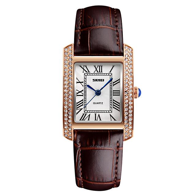 בגדי ריקוד נשים שעוני יוקרה שעון יד שעון יהלומים קווארץ נשים עמיד במים אנלוגי לבן שחור אדום / שנתיים / עור / Japanese / Japanese / שנתיים