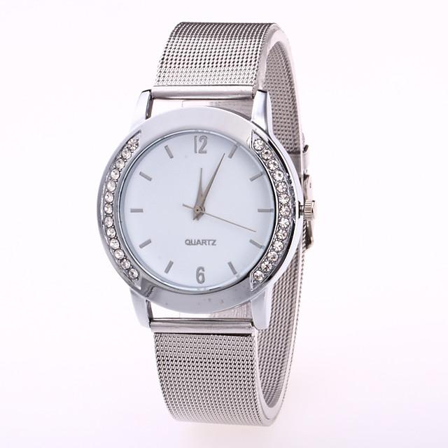 Pentru femei Ceas de Mână Quartz Diamond Watch Quartz femei Ceas Casual Analog Negru / Argintiu Alb / Argintiu Auriu / Oțel inoxidabil / Un an / Un an / Jinli 377