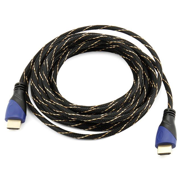 Cablu HDMI de mare viteză suport 1.4V 3d pentru HDTV inteligent condus, Apple TV, DVD Blu-ray (5 m)
