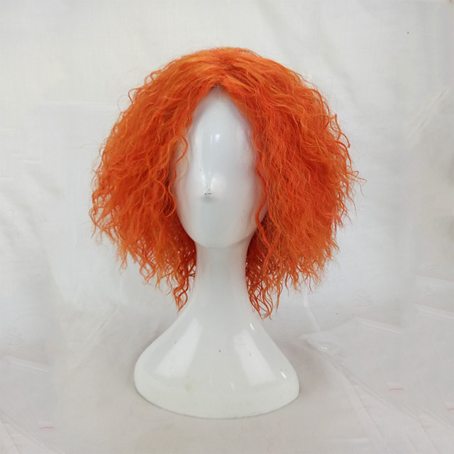 Synthetic Wig Cosplay Wig Afro Kinky Curly Kinky Curly Afro Wig Blonde Short Orange Synthetic Hair Women's Blonde hairjoy
