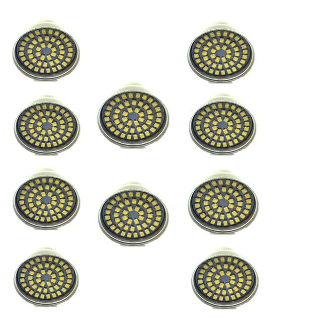 10pcs 3 W Spoturi LED 500 lm GU10 48 LED-uri de margele SMD 2835 Decorativ Alb Cald Alb Rece 12 V / 10 bc