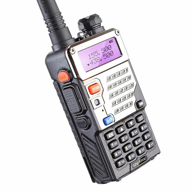 BAOFENG BUV-5RE Talkie walkie Portable Avertissement Batterie Faible Logiciel PC Programmable Invite Vocale Radio bidirectionnelle 3 - 5 km 3 - 5 km 1800 mAh 5 W