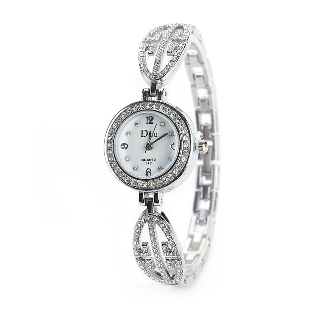 Pentru femei Ceas de Mână Simulat Diamant Ceas Diamond Watch Quartz Argint / Auriu / Roz auriu imitație de diamant Analog femei Charm Vintage Casual Modă - Auriu / Argintiu Roz auriu Negru / Argintiu