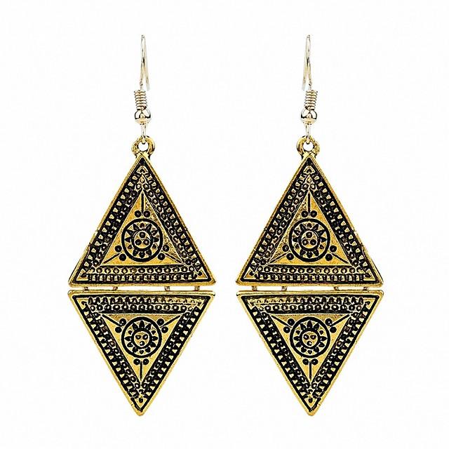 Kadın's Damla Küpeler Markazit Çiçek / Botanik Bayan Kişiselleştirilmiş Klasik Moda Afrika Küpeler Mücevher Altın / Gümüş Uyumluluk Parti Hediye Gece Partisi Sahne