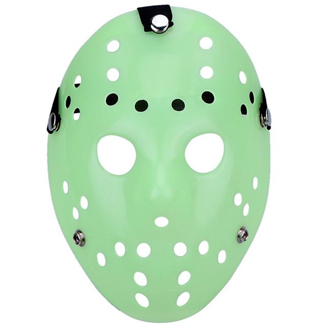 halloween gözlü jason katil maske parlak yeşil korku hokey cosplay karnaval maskeli parti kostüm pervane