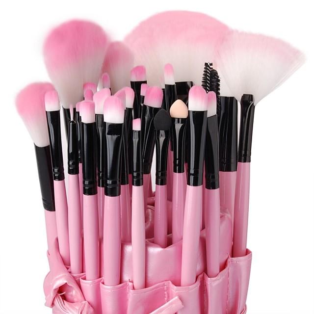 Profesional Pinceles de maquillaje Sistemas de cepillo 32pcs Alta calidad Madera Pinceles de Maquillaje para Sombras de Ojos Corrector Polvos Sonrojo Bolsos de Maquillaje Cepillo para Base Pincel