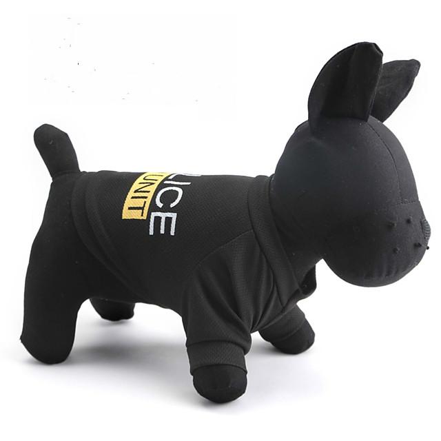 Pisici Câine Tricou Polițist / Militar Literă & Număr Îmbrăcăminte Câini Negru Costume Terilenă XS S M L XL XXL