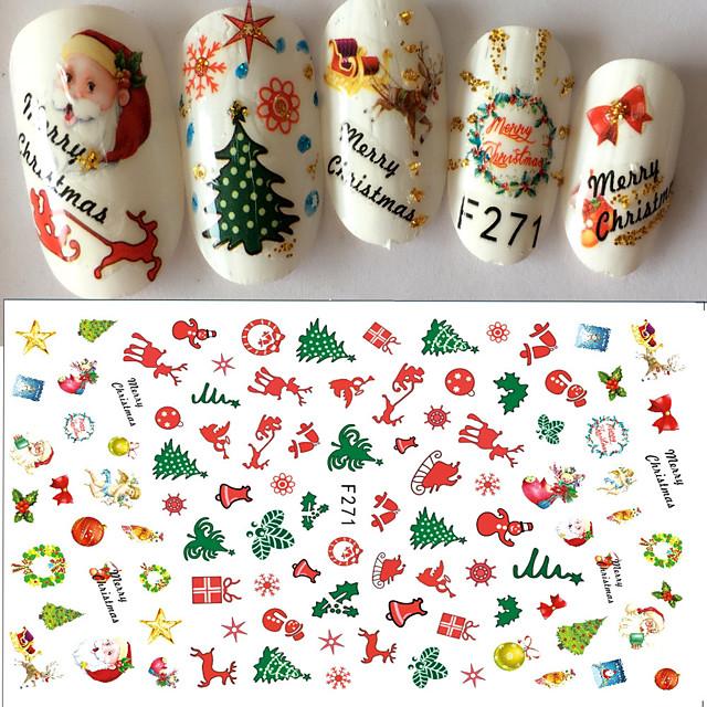 1 pcs Autocolante & Benzi Decals pentru unghii Nail Art Design