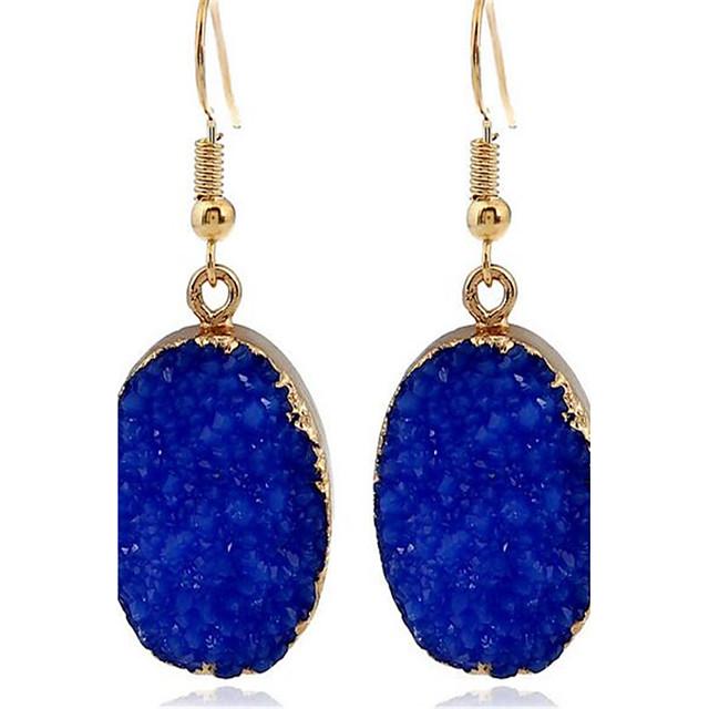 Kadın's Damla Küpeler Püskül Bayan Kişiselleştirilmiş minimalist tarzı Moda Küpeler Mücevher Mavi Uyumluluk Randevu Tatil Dışarı Çıkma