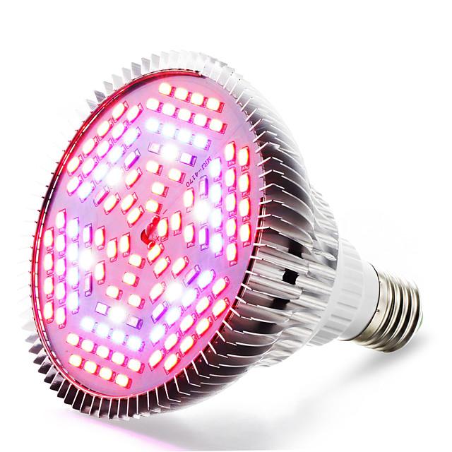 élèvent la lumière a mené la plante a augmenté la lumière a mené l'ampoule croissante 85-265v 24w 4000-5000 lm e26 / e27 120 perles menées smd 5730 blanc chaud rouge bleu bleu rohs fcc