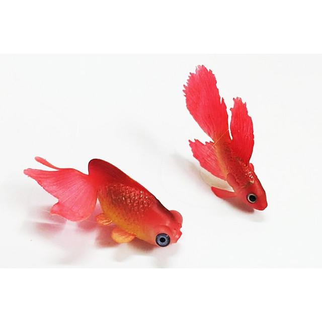 2 pezzi di pesci rossi figurine realistiche di pesci rossi modello acquario decor accessori per acquari