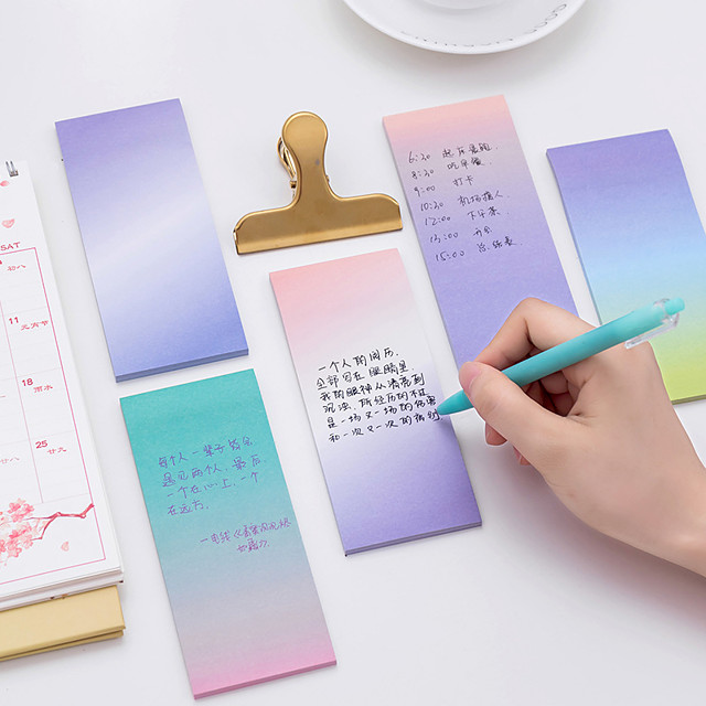 1 PC Gradient Color Self-Stick Notes 40 Page(Random Color)
