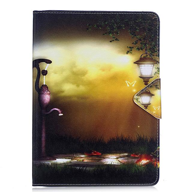 Pouzdro Uyumluluk Apple iPad Air / iPad 4/3/2 / iPad Mini 3/2/1 Cüzdan / Kart Tutucu / Satandlı Tam Kaplama Kılıf Manzara / Şehir Manzaralı Sert PU Deri / iPad Pro 10.5 / iPad (2017)