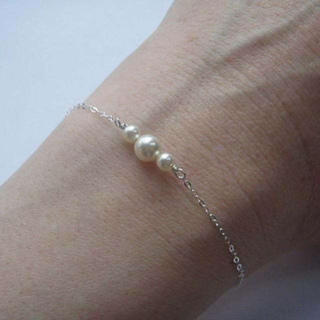 Pentru femei Perle Brățări cu Lanț & Legături Brățări cu Talismane Plin de graţie femei Delicat Small Aliaj Bijuterii brățară Auriu / Argintiu Pentru Petrecere Zilnic Casual Sport