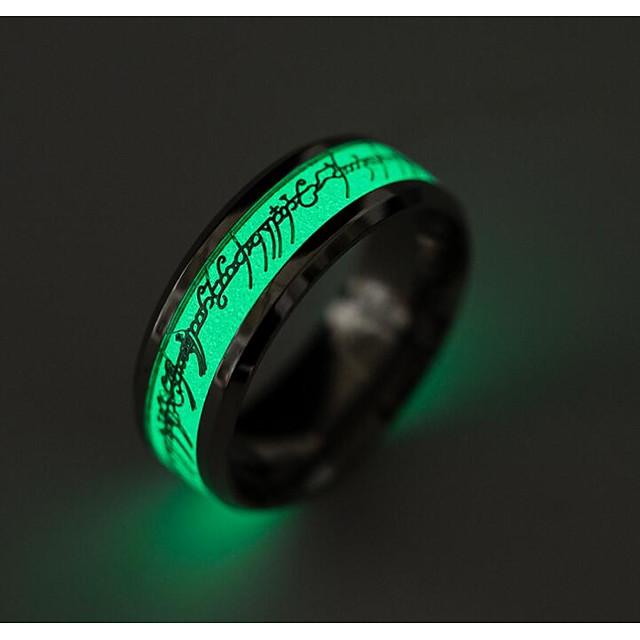 Кольцо Золотой Серебряный Титановая сталь магия Мода 6 7 8 9 10 / Муж. / Муж.