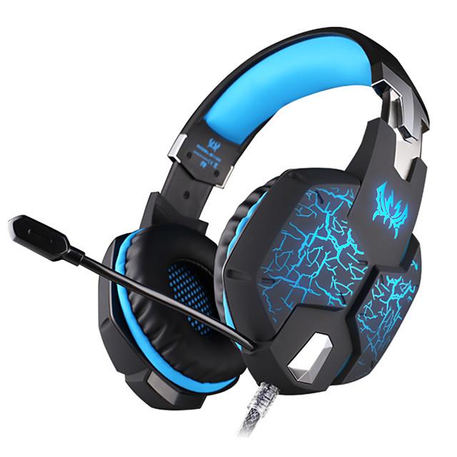 KOTION EACH G1100 Saç Bandı Kablolu Kulaklıklar Dinamik Plastik Oyunlar Kulaklık Parlak / Mikrofon ile kulaklık
