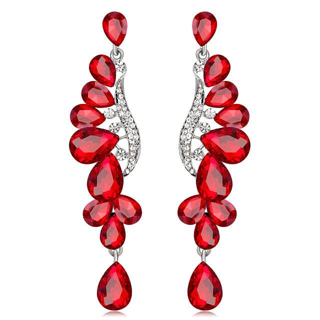 Žene Viseće naušnice Cvijet Personalized Luksuz Mértani Moda Naušnice Jewelry Pink / Crvena / Plava Za Vjenčanje Rođendan Angažman Dar Dnevno 1pc