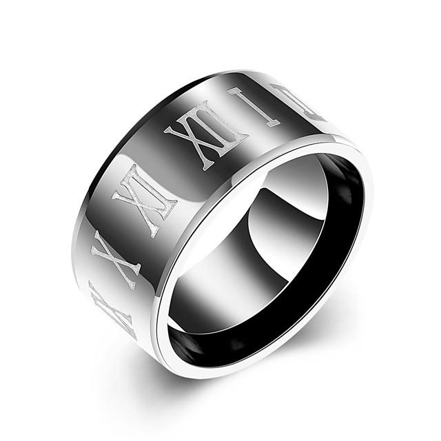Inel Negru Teak Oțel titan 7 8 9 10 / Bărbați