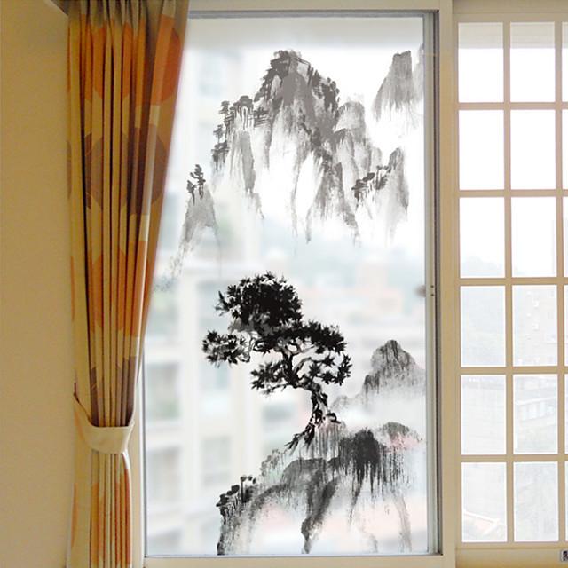 Pencere Filmi ve Çıkartma Dekorasyon Çin Stili Art Deco PVC / winyl Pencere Çıkartması