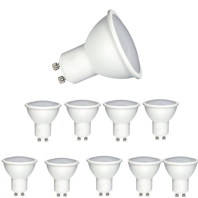 10pcs 6w gradable cob led projecteur gu10 / mr16 (gu5.3) 90-120degree spot angle angle de faisceau led ampoule pour lampe de table downlight ac220-240v