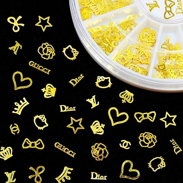 1 pcs Bijuterie unghii Pentru nail art pedichiura si manichiura Zilnic Metalic / Modă / Unghiul de bijuterii