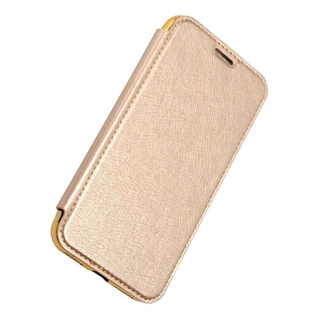Pouzdro Uyumluluk Apple / iPhone X iPhone X / iPhone 8 Plus / iPhone 8 Cüzdan / Kart Tutucu / Kaplama Tam Kaplama Kılıf Solid Sert PU Deri