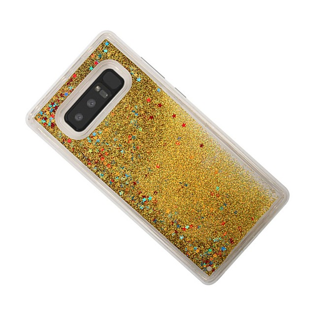 Pouzdro Uyumluluk Samsung Galaxy Note 8 Akan Sıvı Arka Kapak Işıltılı Parlak Yumuşak TPU