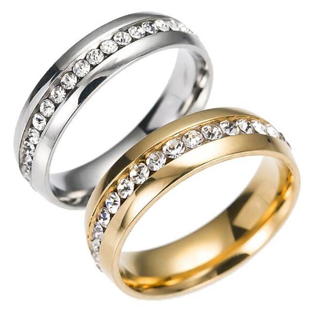 Band Ring Auriu Argintiu Teak Oțel titan Modă 6 7 8 9 10 / Bărbați
