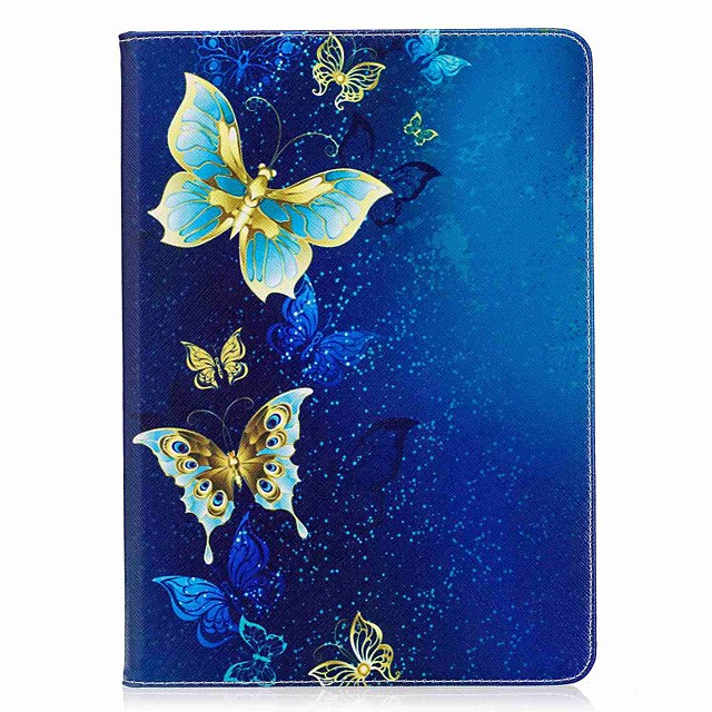 Кейс для Назначение Apple iPad Mini 5 / iPad New Air (2019) / iPad Air Кошелек / Бумажник для карт / со стендом Чехол Бабочка Твердый Кожа PU / iPad Pro 10.5 / iPad (2017)