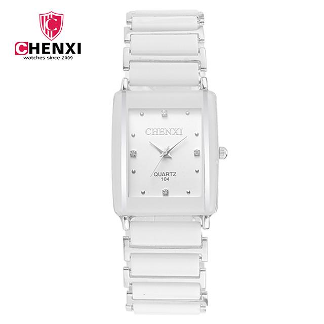 CHENXI® Çiftlerin Bilek Saati Quartz İhtişam Havalı Siyah / Beyaz Analog - Beyaz Siyah / Japonca / Japonca
