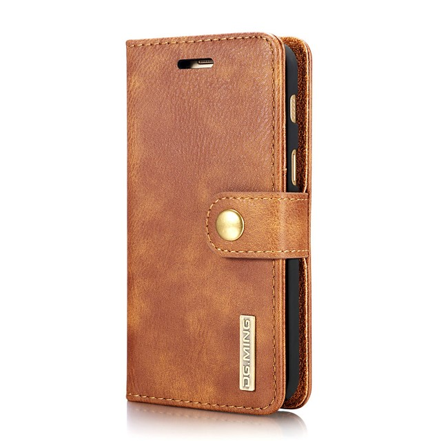 Case For Samsung Galaxy J7 (2017) / J5 (2017) / J3 (2017) Wallet / Card Holder / Flip Full Body Cases Solid Colored Hard Genuine Leather